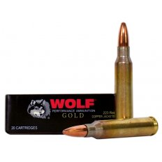 Wolf Gold .223 Remington 55 Gr. Full Metal Jacket 22355FMJ