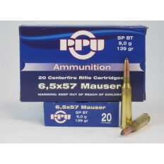 Prvi Partizan 6.5x57mm Mauser 139 Gr. Soft Point BT- Box of 20