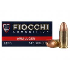 Fiocchi Shooting Dynamics 9mm Luger 147 Gr. Full Metal Jacket 9APD